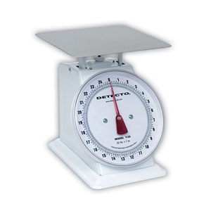 Detecto T-2-S (T2S) Top Loading Lge Dial Scale-stainless steel finish