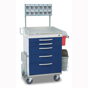 Detecto Wc33669blu L Loaded Whisper Anesthesiology Cart 5