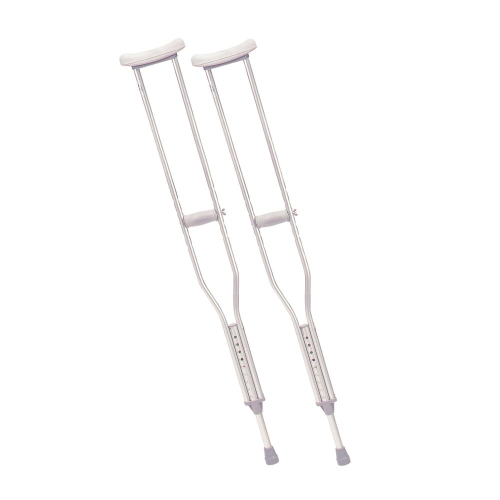Drive RTL10402 Walking Crutches w/ Underarm Pad & Handgrip-Tall Adult