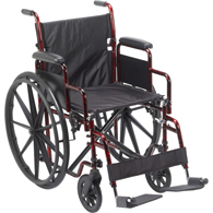 Drive Medical RTLREB18DDA-SF Rebel Lightweight Wheelchair