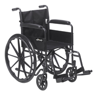 Drive Medical SSP118FA-SF Silver Sport 1 Wheelchair w/ Arms & Footrest
