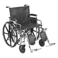 Drive STD22 Sentra Extra Wheelchair-Desk Arms-Elevating Leg Rests-22""
