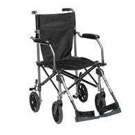 Drive Medical TC005GY Travelite Chair in a Bag Transport Wheelchair