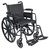 Drive Cirrus IV Lightweight Dual Axle Wheelchair w/ Adjustable Arms