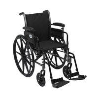 Drive Cruiser III Light Weight Wheelchair w/ Flip Back Removable Arms