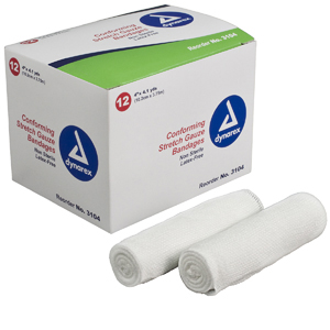 Dynarex 3104 Stretch Gauze Bandage Roll-96/Case