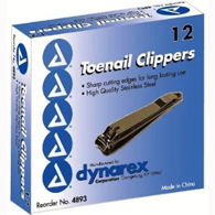 Dynarex 4893 Toenail Clipper with File-144/Case