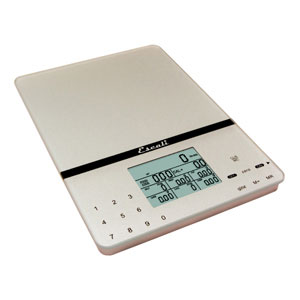 Escali 115NS Cesto Portable Nutritional Tracker 11 LB Capacity Silver