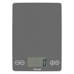Escali 157gs Arti Glass Kitchen Scale 15 Lb 7 Kg Grey Storm