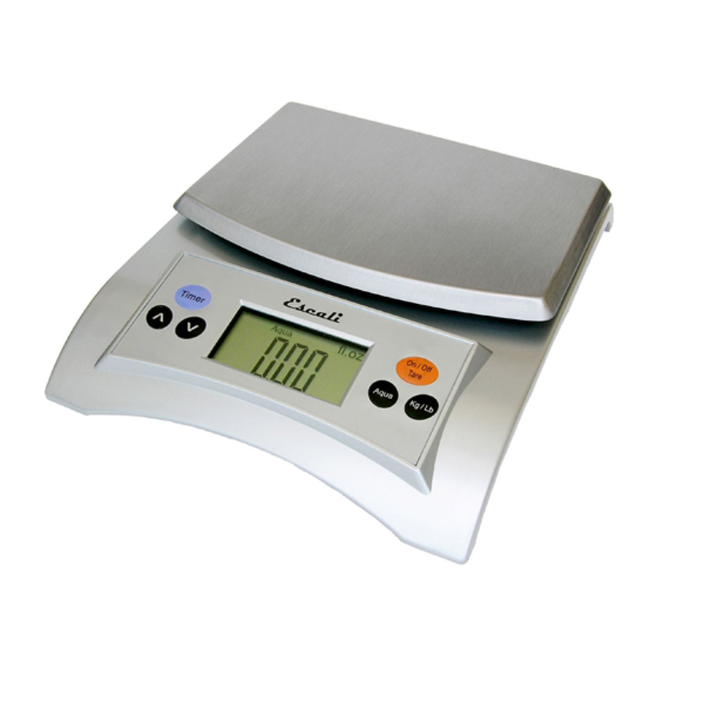 Escali Aqua Digital Scale, 11 Lb / 5 Kg, Silver