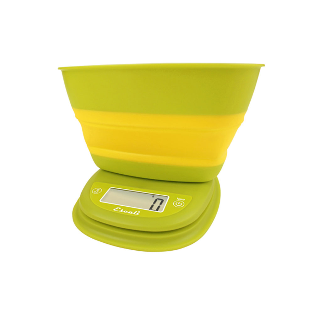 Escali Pop Digital Scale, 11 Lb / 5 Kg, Garden Yellow