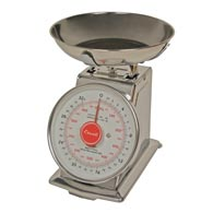 Escali-DS21B Mercado, Dial Scale with Bowl-2 Lb/1 Kg