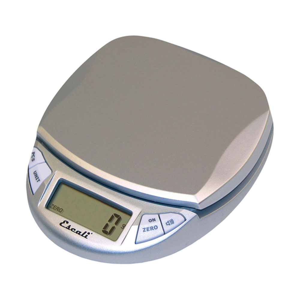 Escali Pico Digital Scale, 11 Lb / 5 Kg, Silver Gray