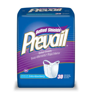 Prevail PV-324 Premium Belted Shield-Extra Absorbency-120/Case