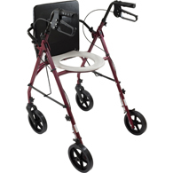 Free2Go F2G-ROL8CBG Rollator with Commode Seat