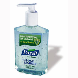 GOJO 9674-12 Purell Hand Sanitizer with Aloe-12/Case