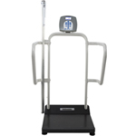 Health o meter Professional 1100KLHR Digital Stand On Scale w/ Height Rod