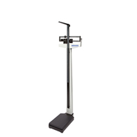 HealthOMeter 402KL Beam Scale w/ Height Rod, Counterweights, & Wheels