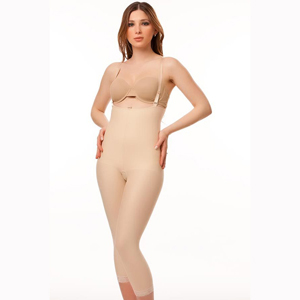Isavela BS06 Stage 2 Body Suit With Suspenders Below Knee Length