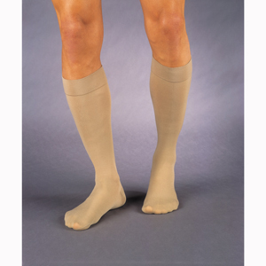 Jobst 114747 Relief Knee High CT Socks w/ Band-20-30 mmHg-BGE-FC-XL