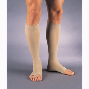 Jobst 114752 Relief Knee High OT Socks w/ Band-20-30 mmHg-BGE-FC-XL