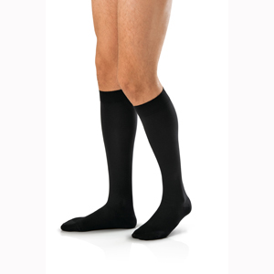 Jobst 115294 For Men Knee High CT Socks-20-30 mmHg-Blk-Full Calf-Large