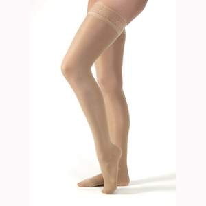 Jobst Lace Ultrasheer Thigh High CT Stockings-30-40 mmHg-Petite