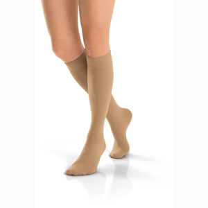 Jobst Opaque Knee High Closed Toe Socks-30-40 mmHg