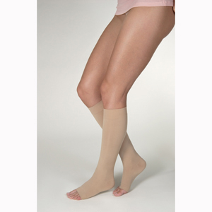 Jobst Opaque Knee High Open Toe Socks-15-20 mmHg
