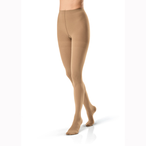 Jobst Opaque Waist High Closed Toe Stockings-15-20 mmHg