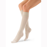 Jobst Sosoft Ribbed Knee Closed Toe Brocade-15-20 mmHg
