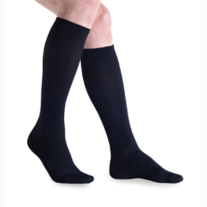 Jobst Knee High Closed Toe Travel Sock-15-20 mmHg