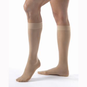 Jobst Ultrasheer Knee High Closed Toe Socks-15-20 mmHg-Petite