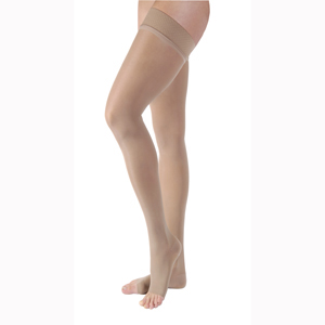 Jobst Ultrasheer Thigh High Open Toe Stockings-30-40 mmHg