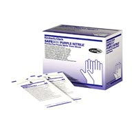 SafeSkin 55091 Purple Nitrile Sterile Exam Gloves-Small-50/Box