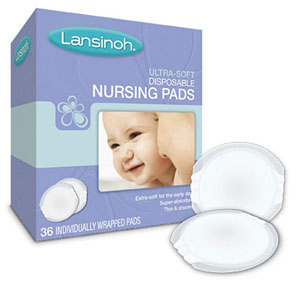 Lansinoh Ultra-Soft Disposable Nursing Pads-36/Box