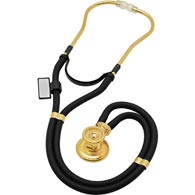 MDF 767K-11 Sprague Rappaport Stethoscope-22K Gold Edition-Black