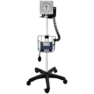 MDF 830-04 Mobile Aneroid Sphygmomanometer-Navy Blue