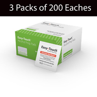MHC 802712 EasyTouch Alcohol Prep Pads-3 Boxes of 200