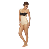 Marena Recovery SFBHA Panty-Length Girdle with High-Back-Large-Beige-OPEN BOX