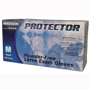 McKesson 14-010-M PROTECTOR Powder Free Latex Exam Gloves-100/Box