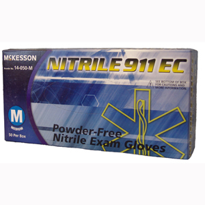 McKesson 14-050-S NITRILE 911 EC Powder Free Nitrile Exam Gloves-50/BX