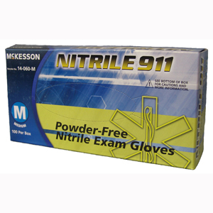 McKesson 14-060-L NITRILE 911 Powder Free Nitrile Exam Gloves-100/Box