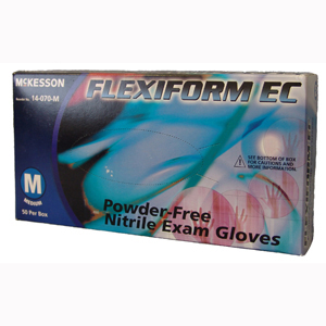 McKesson 14-070-XXL FLEXIFORM EC Powder Free Nitrile Exam Gloves-50/BX