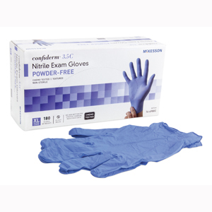 McKesson 14-6980C TACTILE TOUCH Powder Free Nitrile Exam Glove-1800/CS