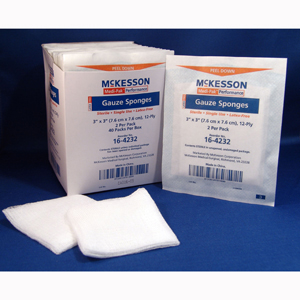 McKesson 16-4232 Medi-Pak Sterile Performance Gauze Sponges-2400/Case