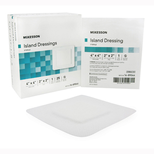 McKesson 16-89044 Island Adhesive Dressing-25/Box