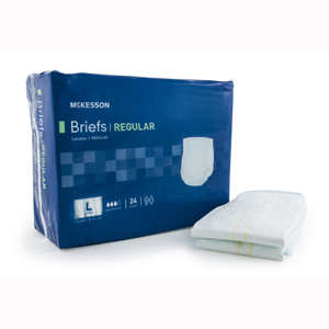 McKesson BRCLLG Regular Cloth Brief-72/Case