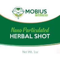 Mobius Wellness Nano Particulated Herbal Shots-1 oz Bottles-3/Pack