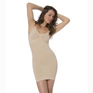 N-Fini 517 Cami Slip Dress Shaper w/ Built-In Bra